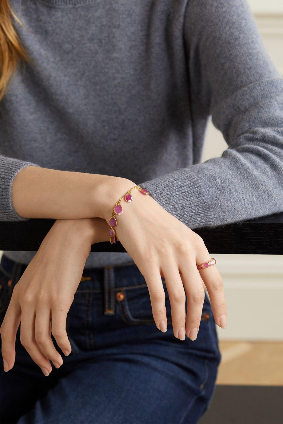 Pippa Small 18-karat gold ruby bracelet