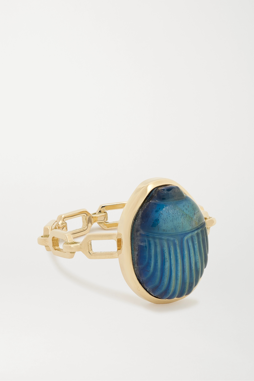 Lito Small Luna 14-karat gold labradorite ring