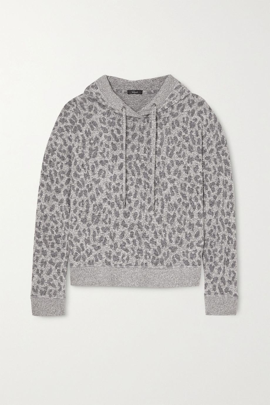 Rails Murray leopard-print brushed-jersey hoodie