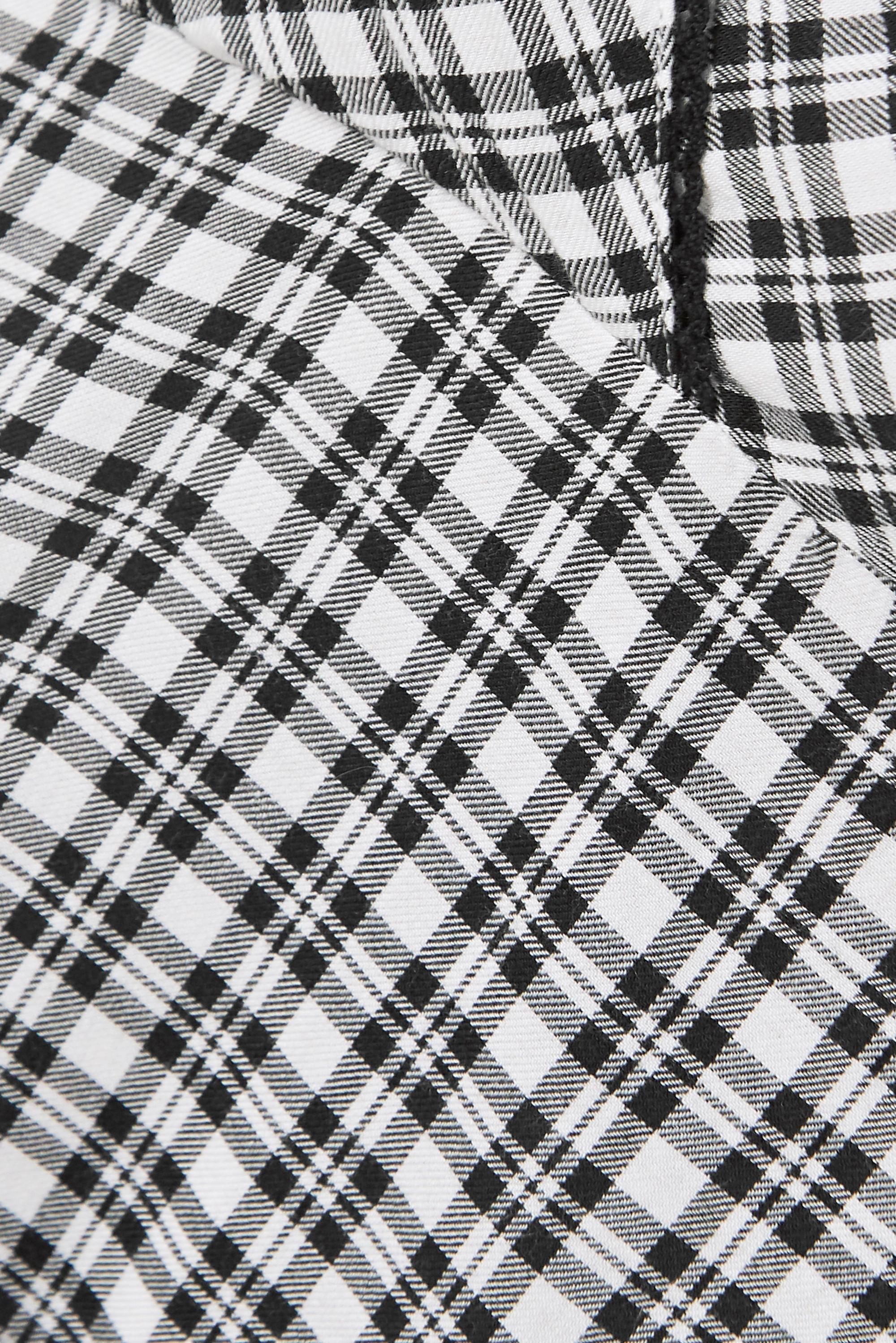 Rails Charlotte picot-trimmed checked twill pajama set