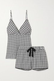 Rails Charlotte picot-trimmed checked twill pajama set