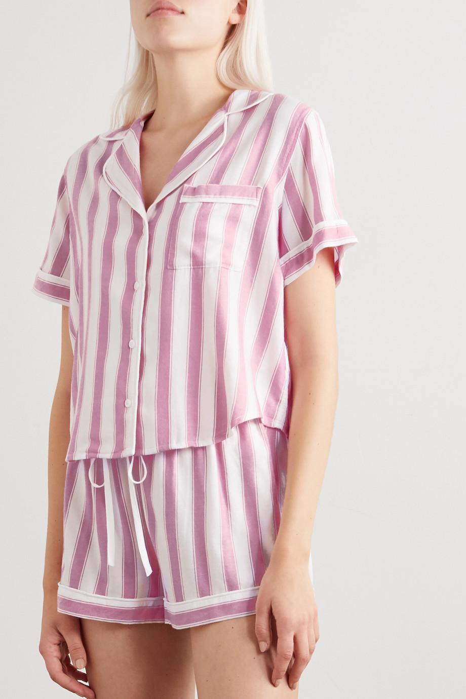 Rails Darcie Pyjama aus gestreiftem Voile