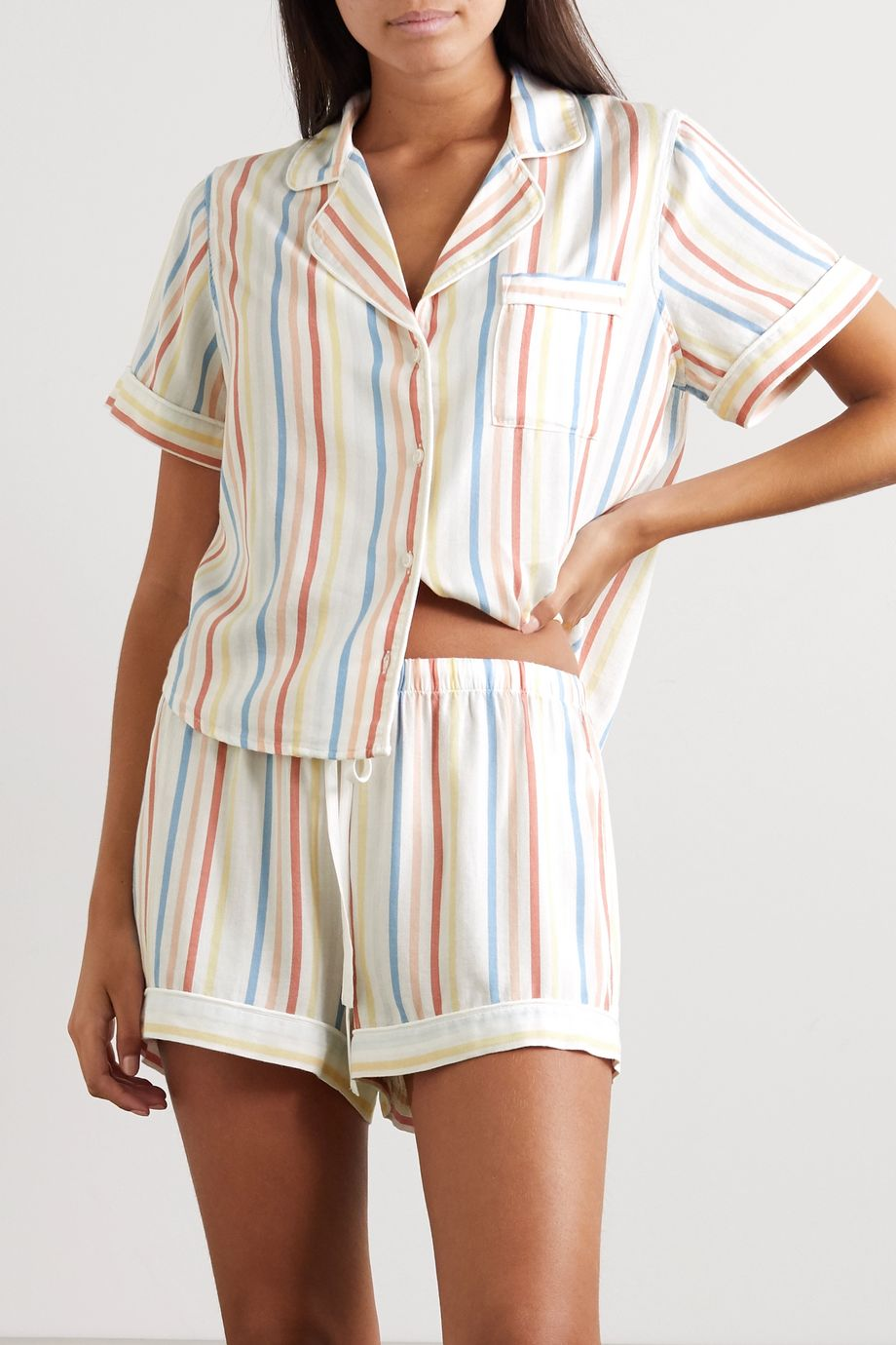 Rails Darcie striped voile pajama set