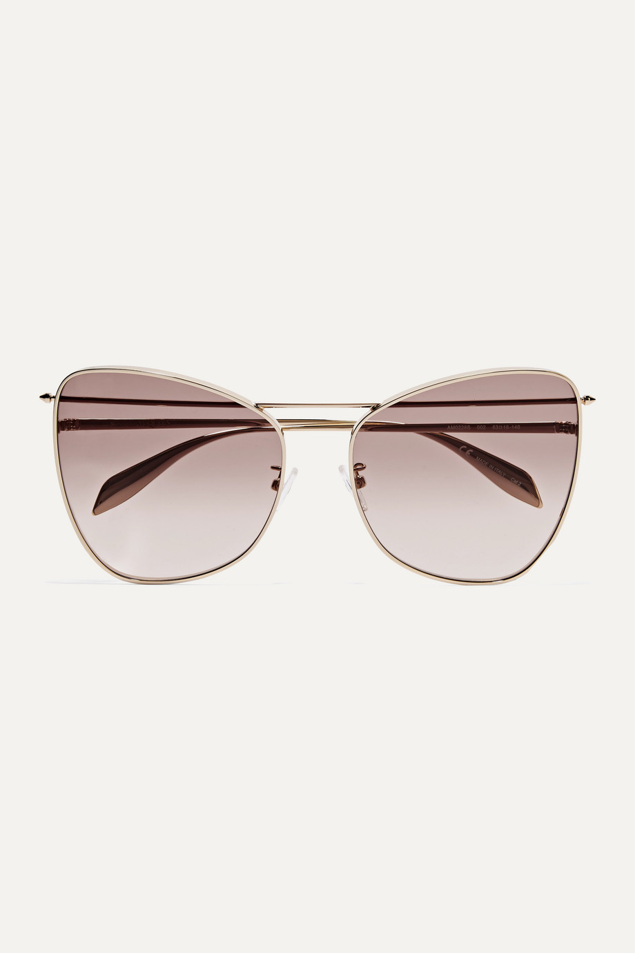 Alexander McQueen Piercing cat-eye gold-tone sunglasses