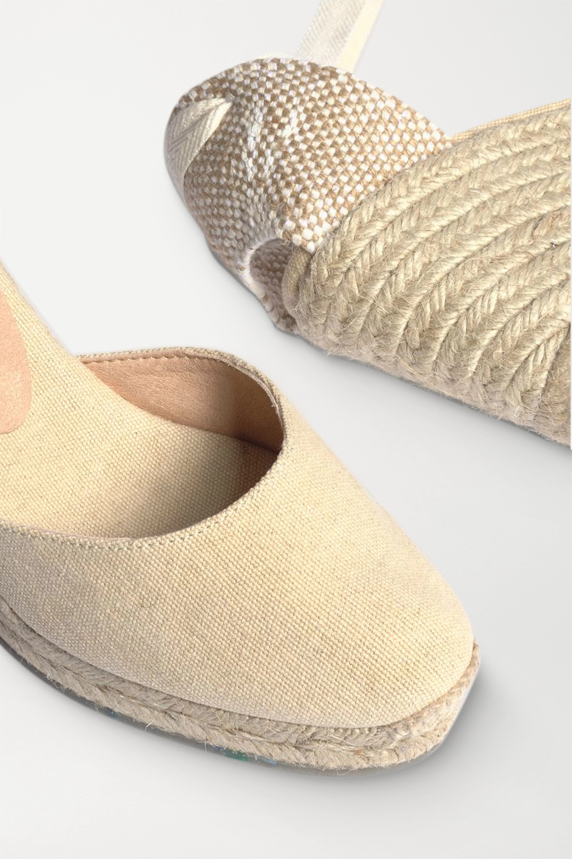 Castañer Carina 60 canvas wedge espadrilles