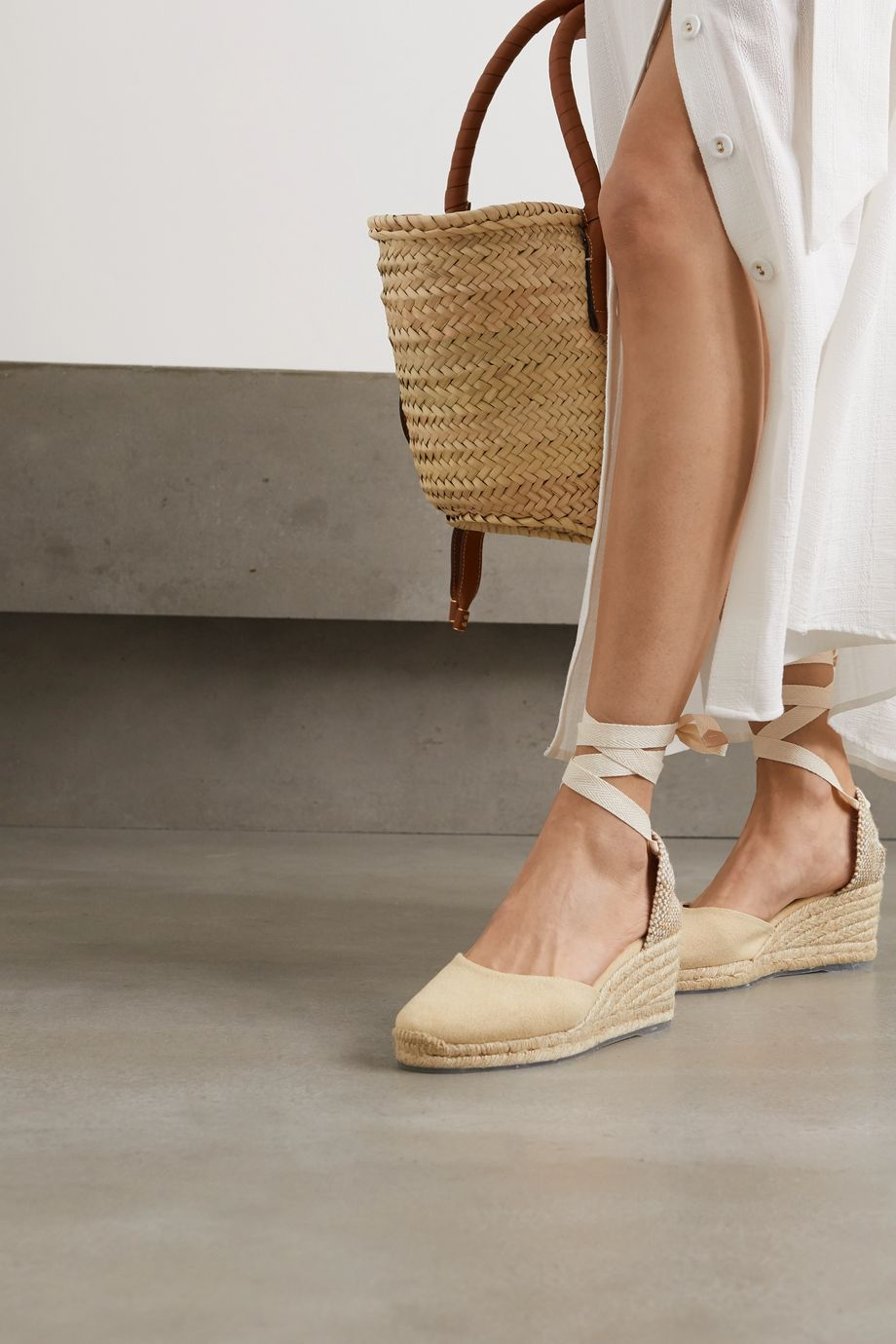 Castañer + NET SUSTAIN Carina 60 canvas wedge espadrilles