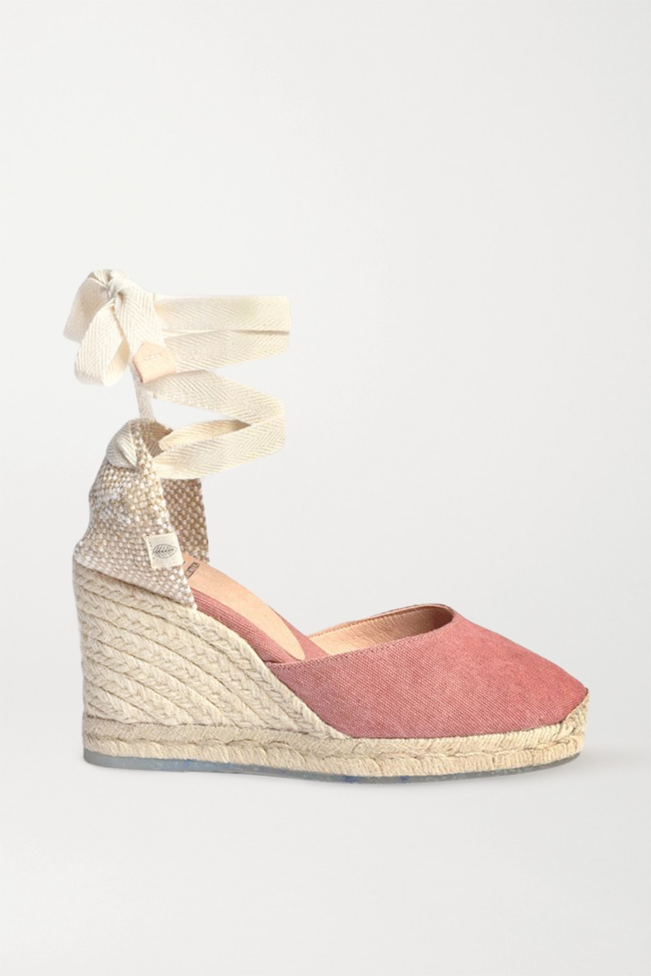 Castañer + NET SUSTAIN Carina 80 canvas wedge espadrilles