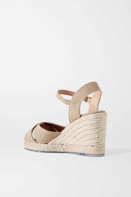 Castañer + NET SUSTAIN Blaudell 80 canvas wedge sandals