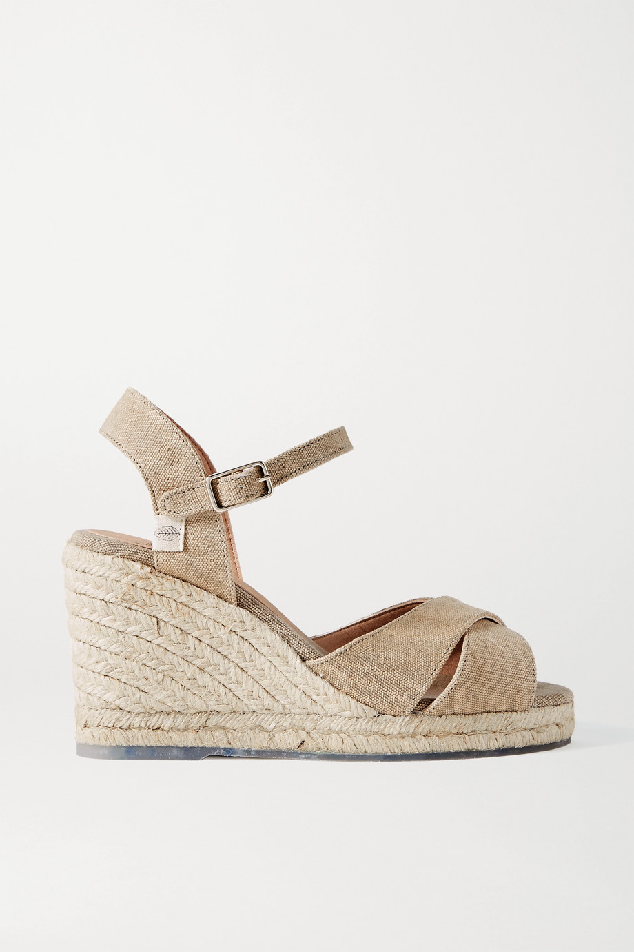 Castañer + NET SUSTAIN Blaudell 80 canvas wedge sandals