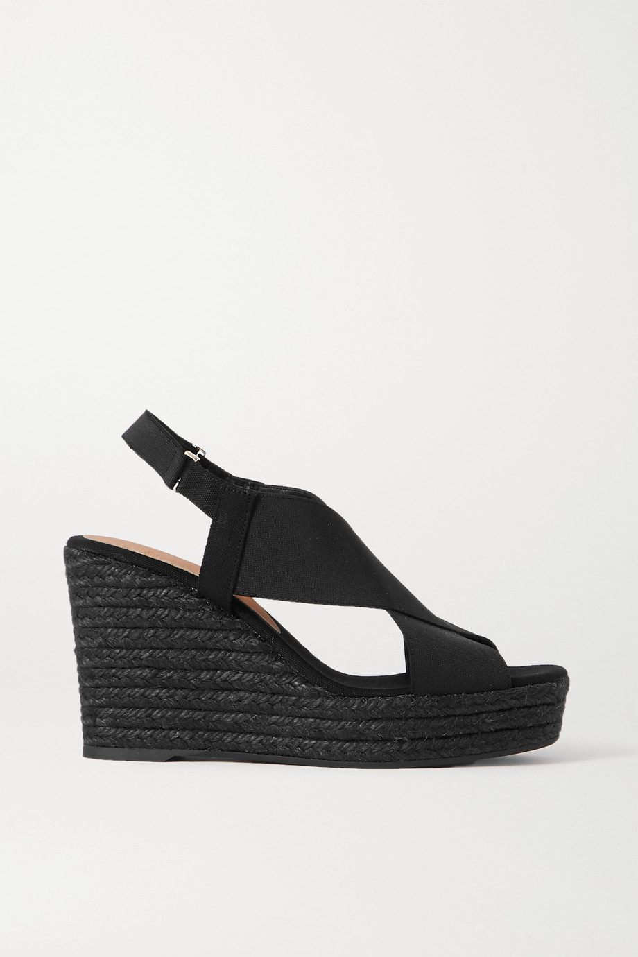 Castañer + NET SUSTAIN Federica canvas wedge espadrilles