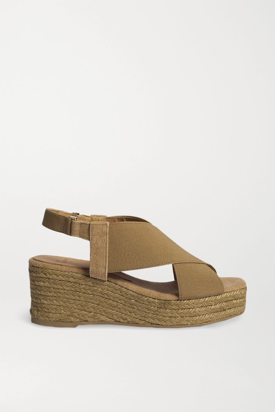 Castañer Quilu 70 canvas-trimmed wedge espadrilles