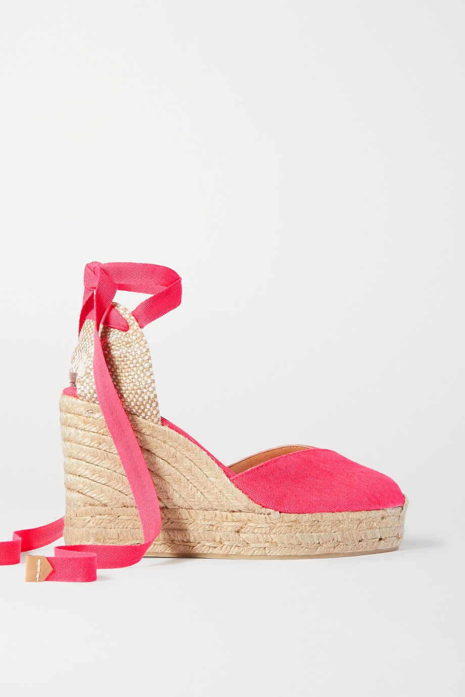 Castañer Chiara 80 canvas wedge espadrilles