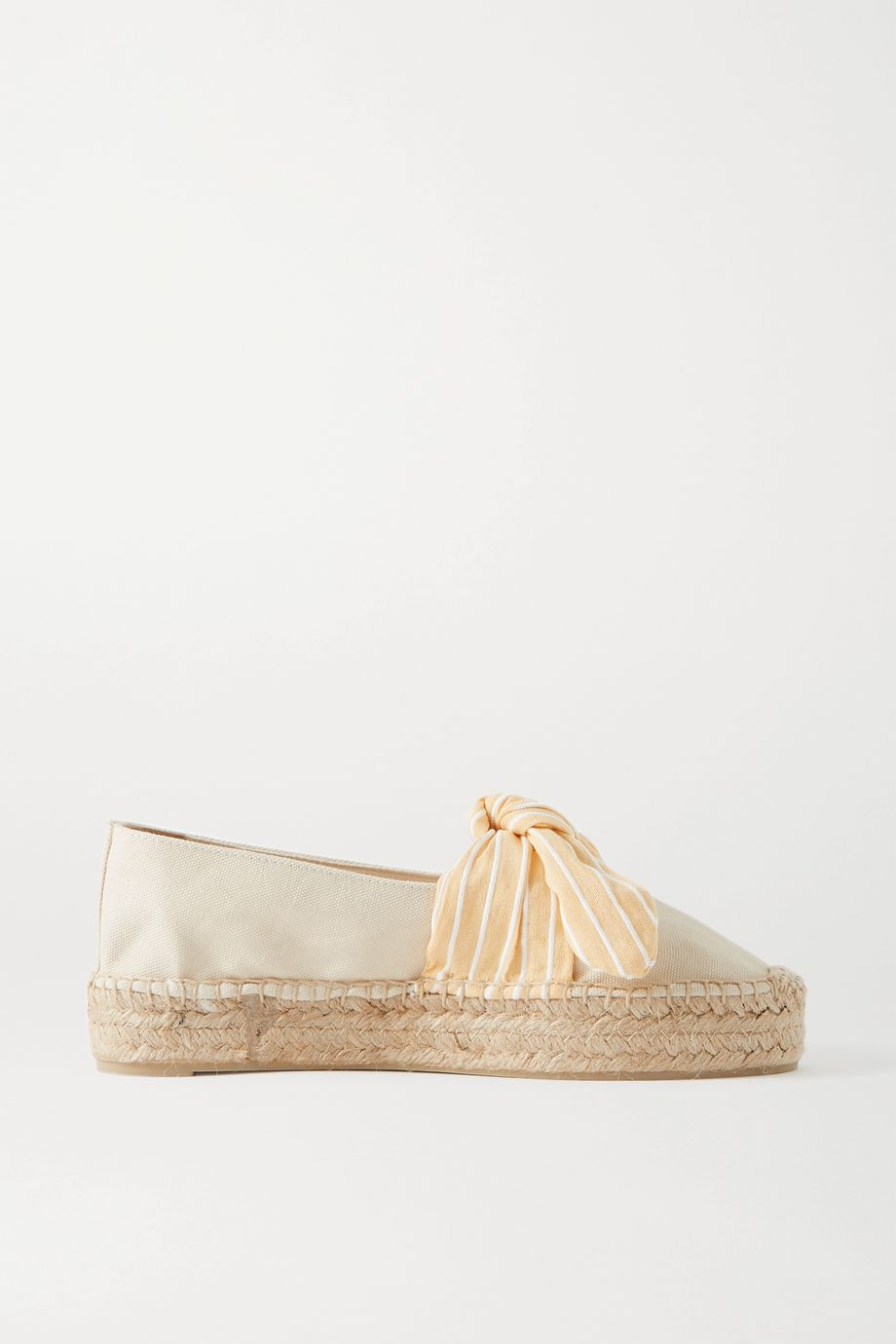 Castañer Kay bow-detailed canvas espadrilles