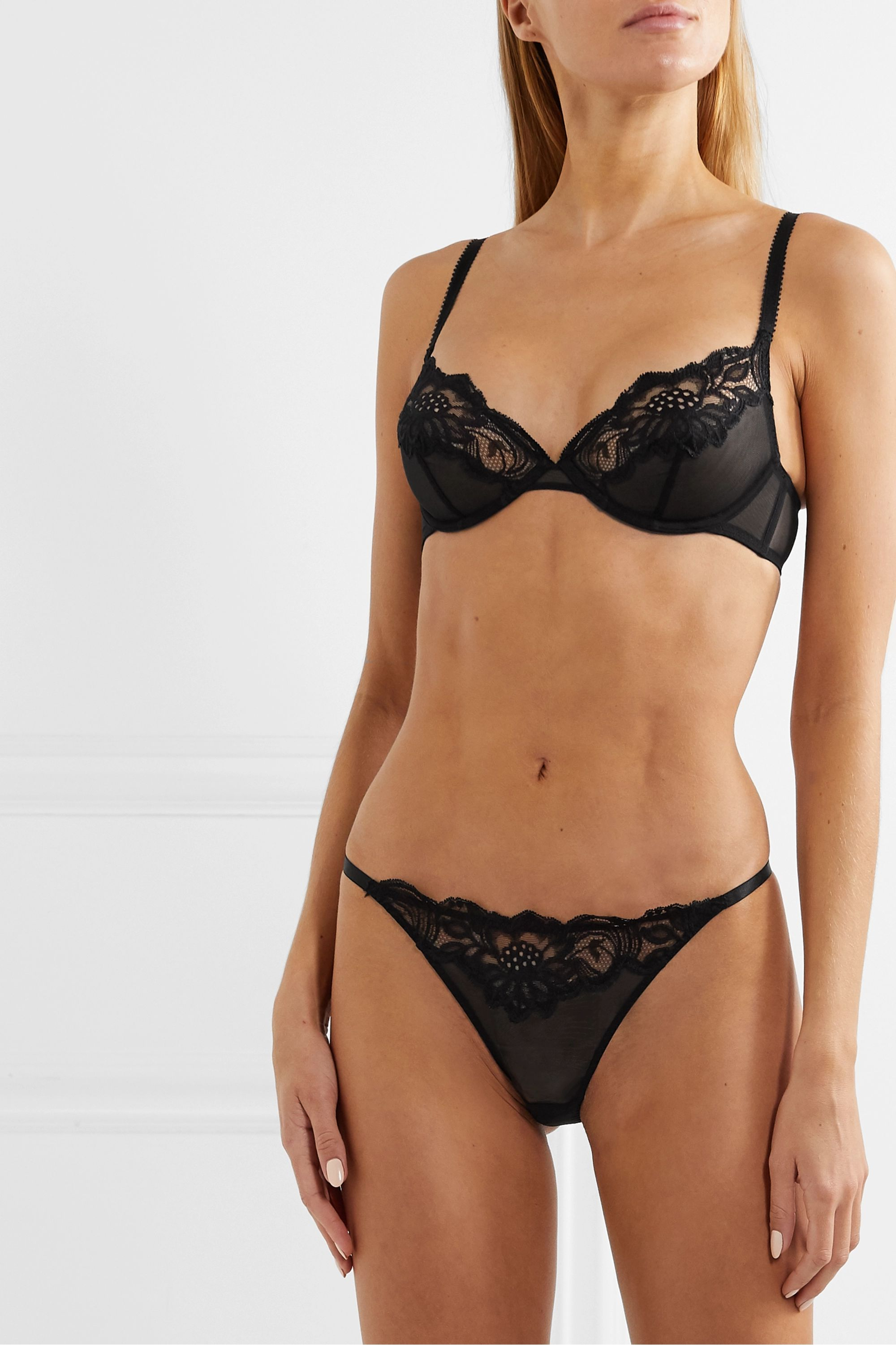 Myla Beaty Street stretch-tulle and Leavers lace underwired bra