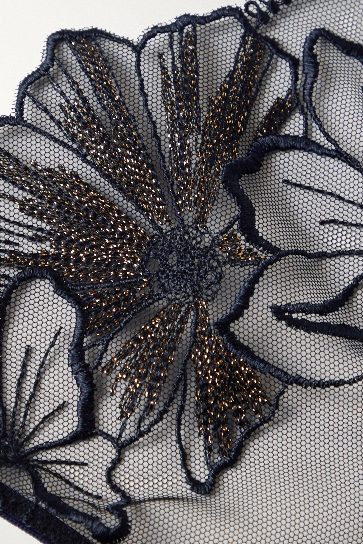 Myla Maddox metallic embroidered tulle briefs