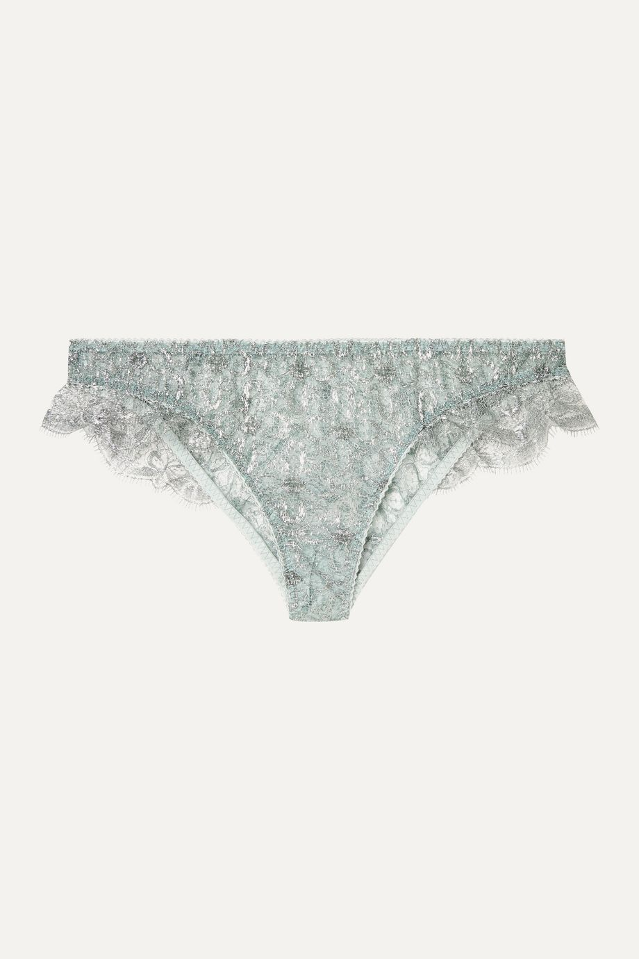 Myla Rosemoor Street metallic Leavers lace briefs