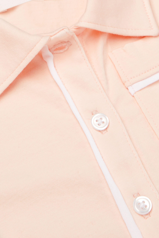 Skin Kids Pyjama en jersey de coton Pima biologique à broderies et à passepoils