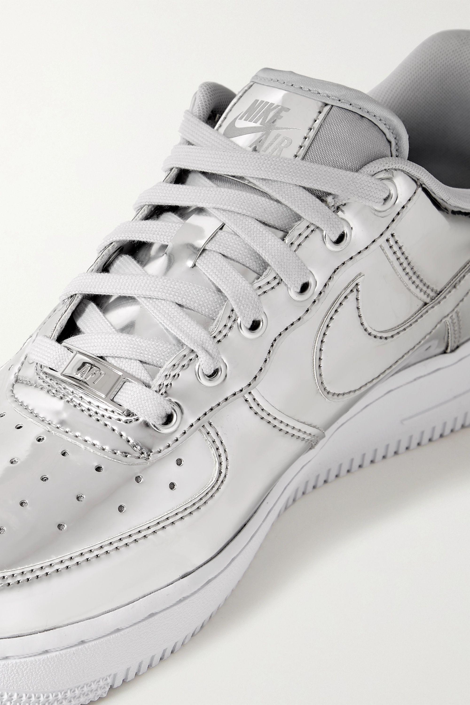 metallic faux leather sneakers | Nike