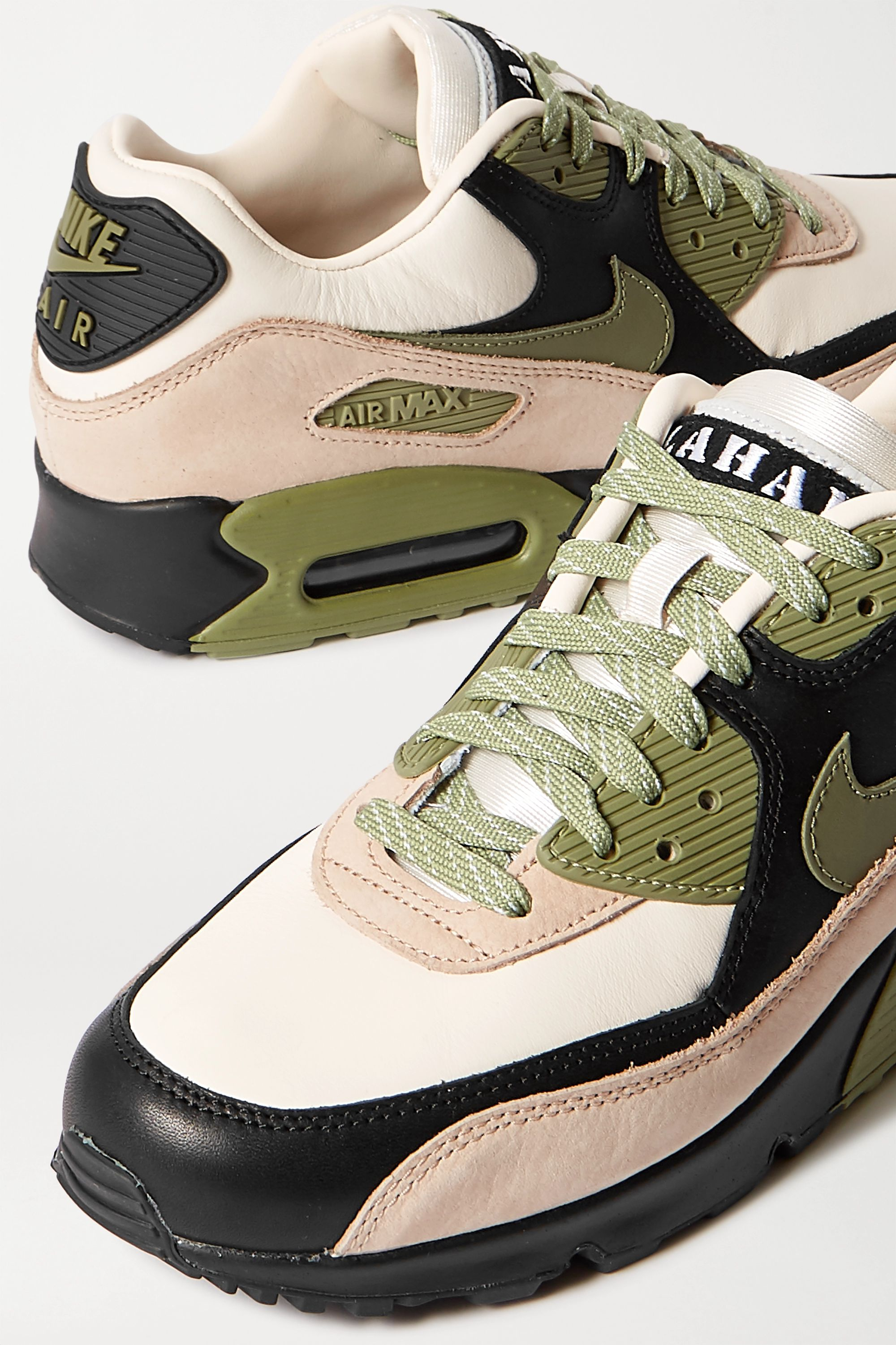 Nike Air Max 90 NRG nubuck and leather sneakers