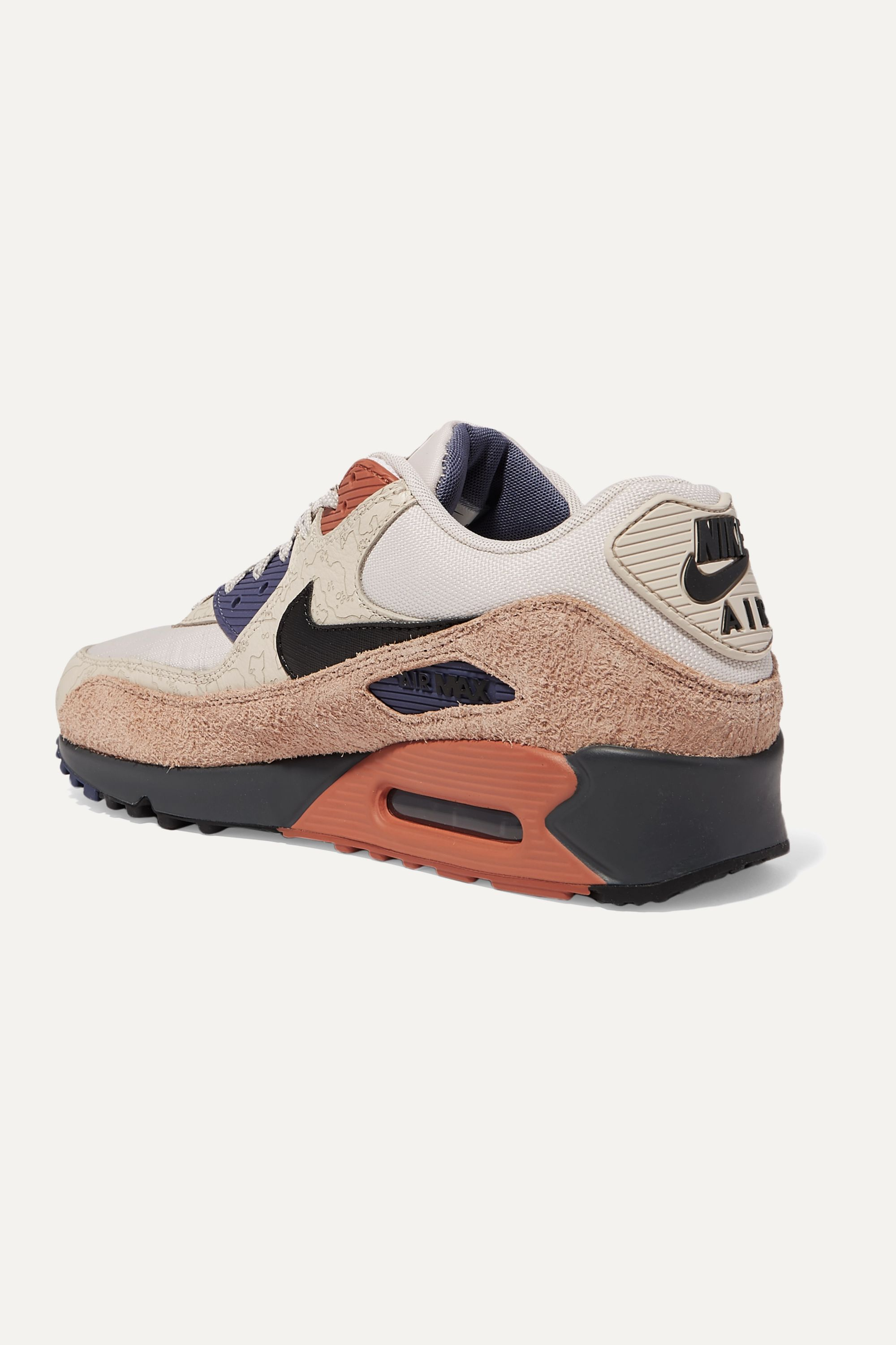 Nike Nike Air Max 90 NRG canvas, textured-leather, suede and rubber sneakers