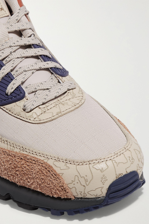 Baskets en toile, cuir texturé, daim et caoutchouc NRG Nike Air Max 90