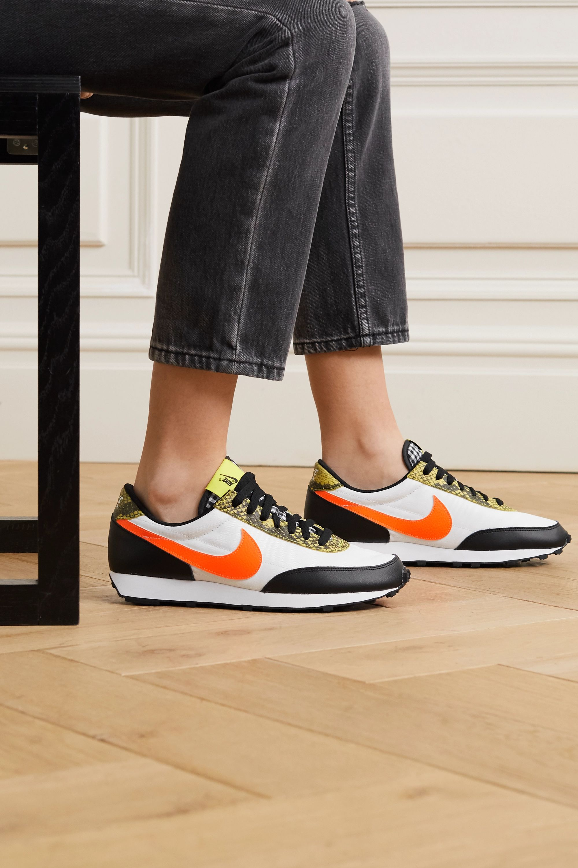 Nike Daybreak QS mesh and leather sneakers