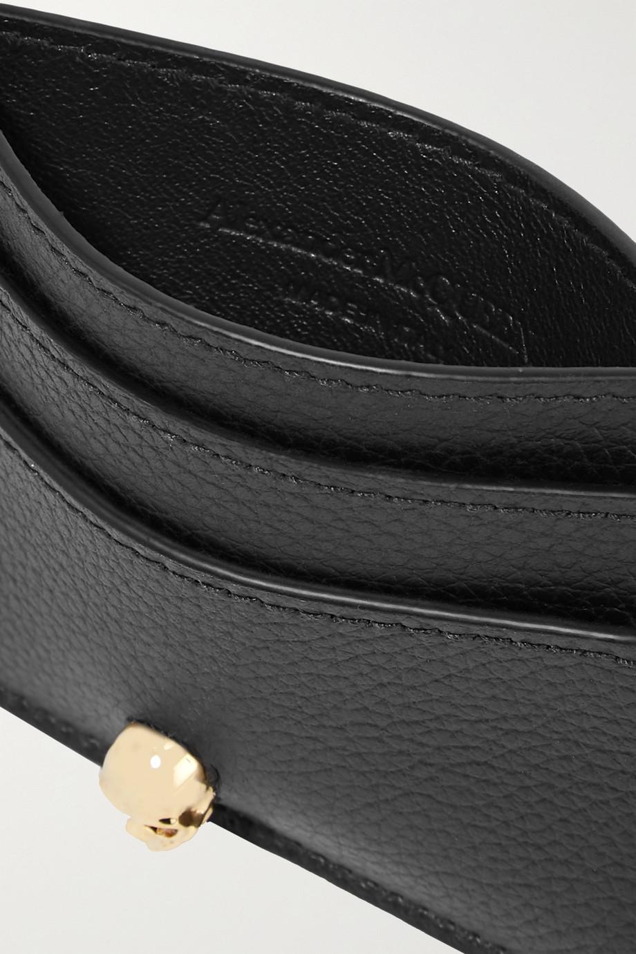 Alexander McQueen Embellished textured-leather cardholder