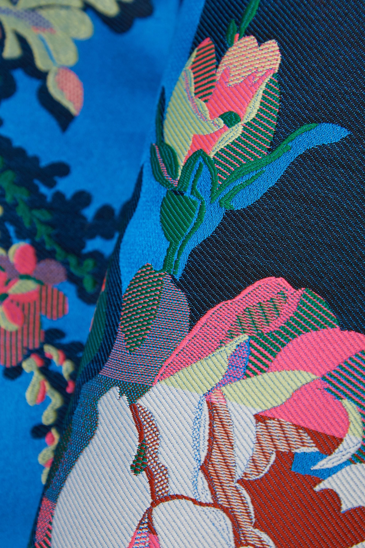 Dries Van Noten Floral-jacquard coat