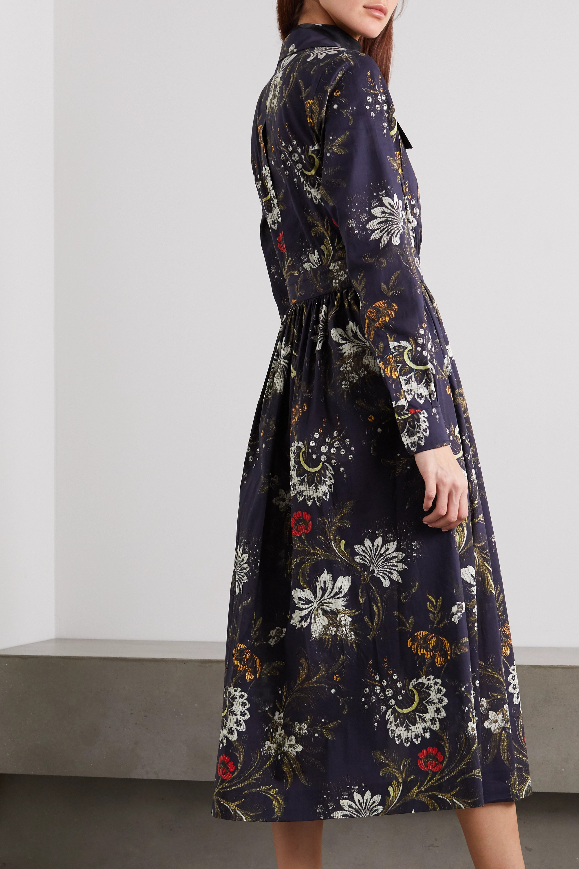 Dries Van Noten Floral-print cotton-jacquard shirt dress