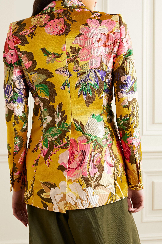 Dries Van Noten Floral-jacquard blazer