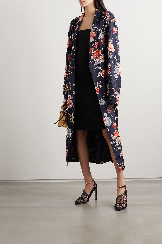 Dries Van Noten Belted embellished floral-print satin robe