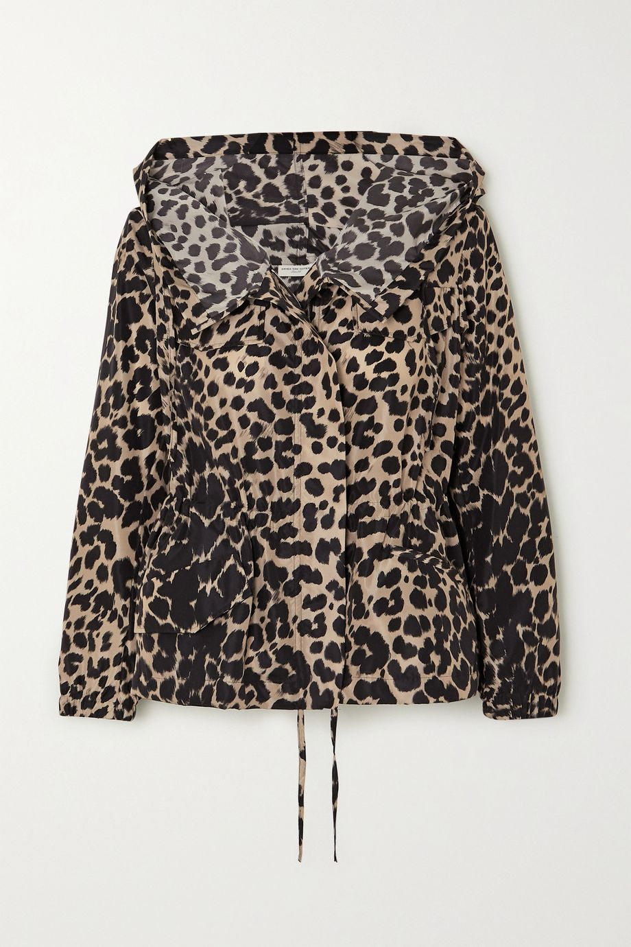 Dries Van Noten Jacke aus Shell mit Leopardenprint