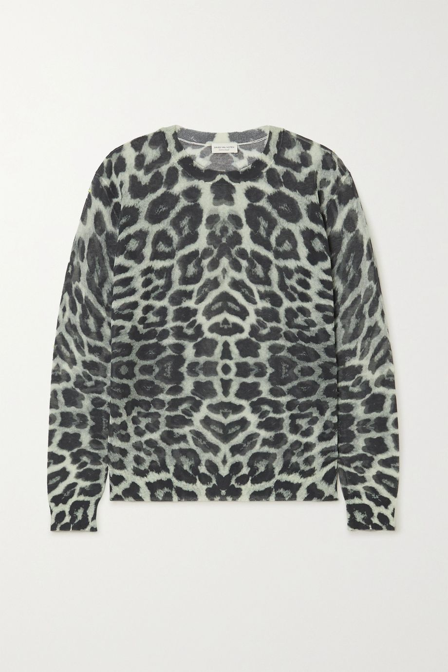 Dries Van Noten Leopard-print cotton-blend sweater
