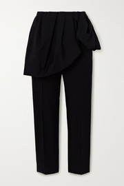 Dries Van Noten + Christian Lacroix Patiar layered cotton and wool-blend straight-leg pants