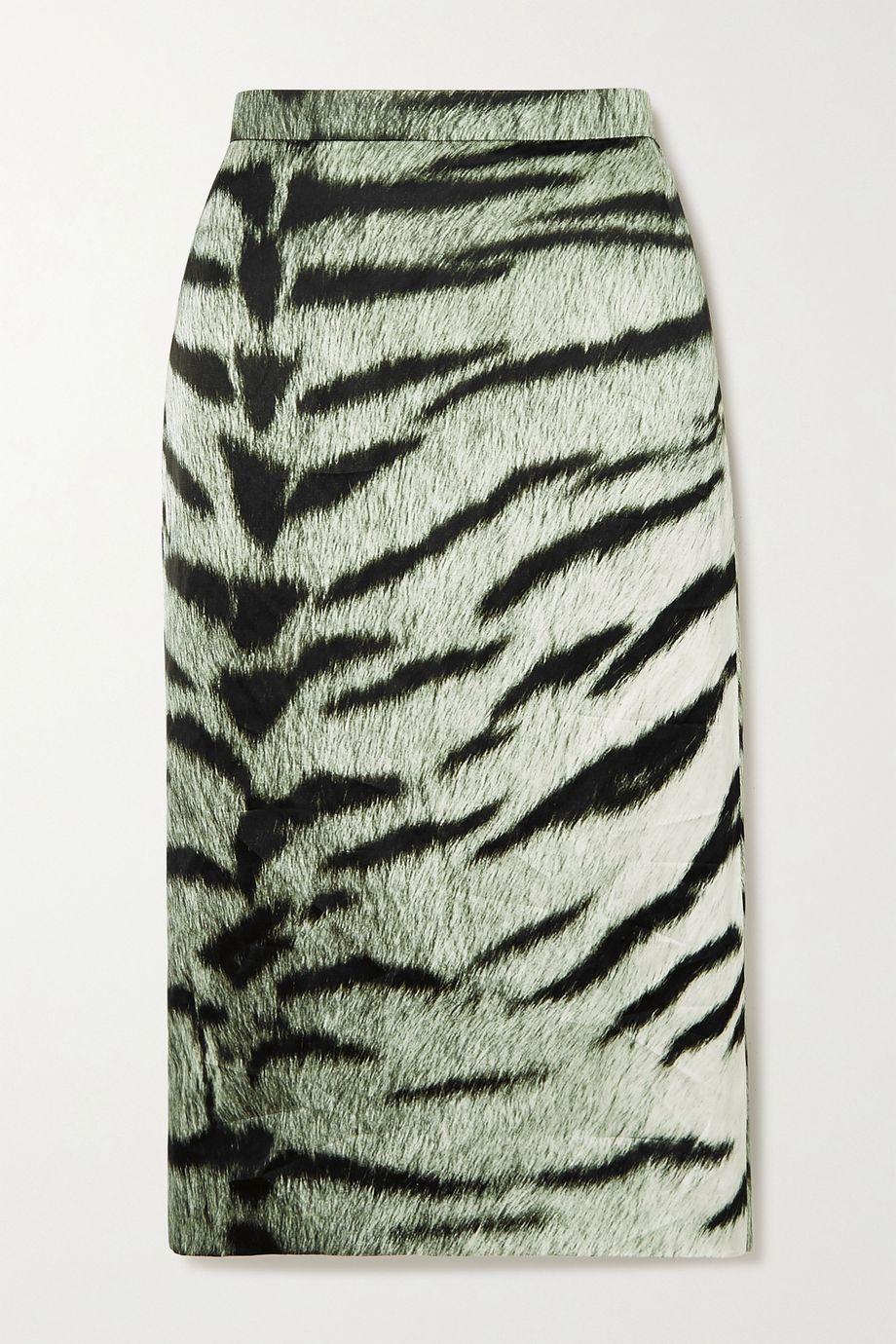 Dries Van Noten Bleistiftrock aus Crêpe mit Zebraprint
