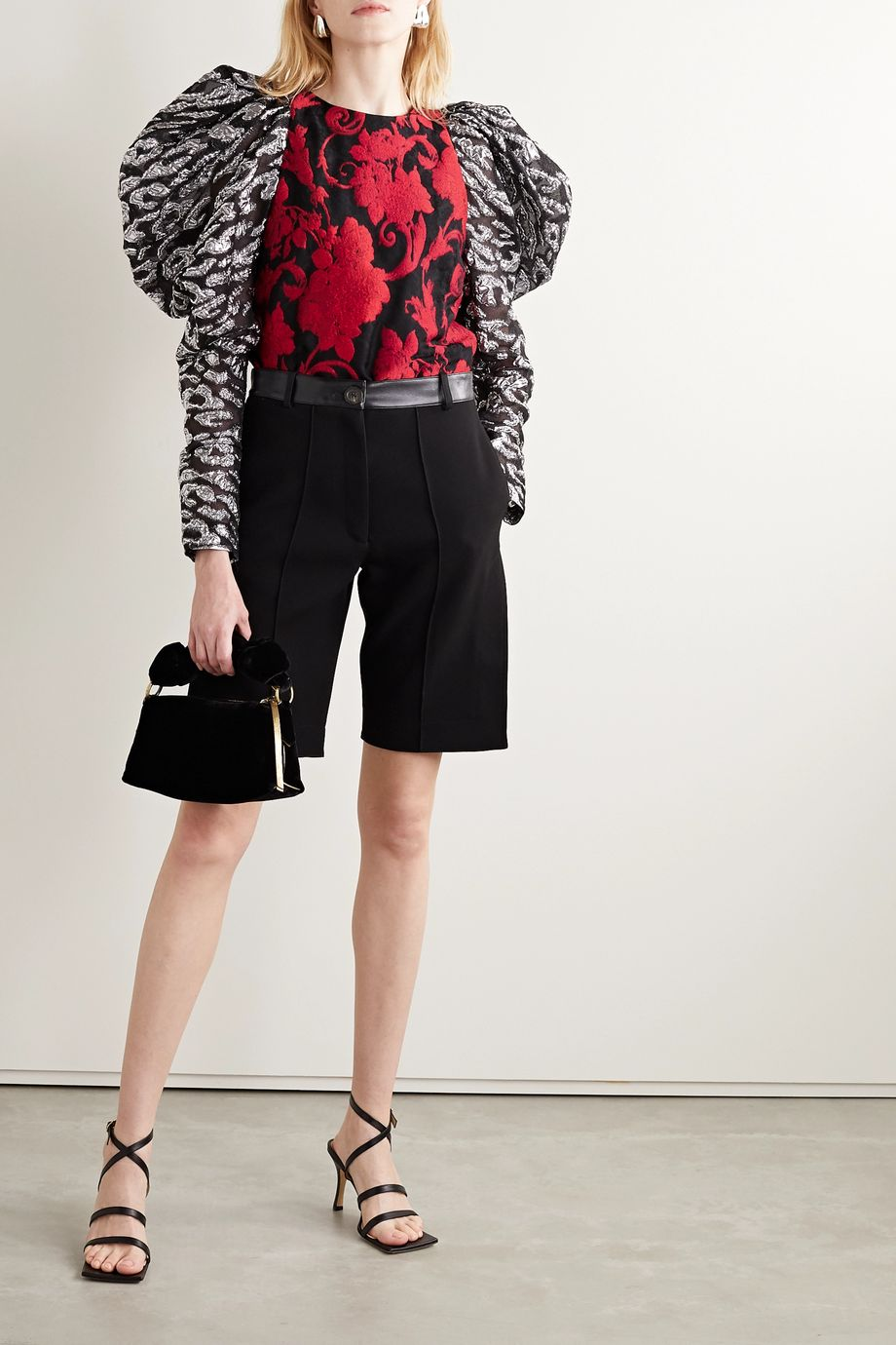 Dries Van Noten Brocade and tulle blouse