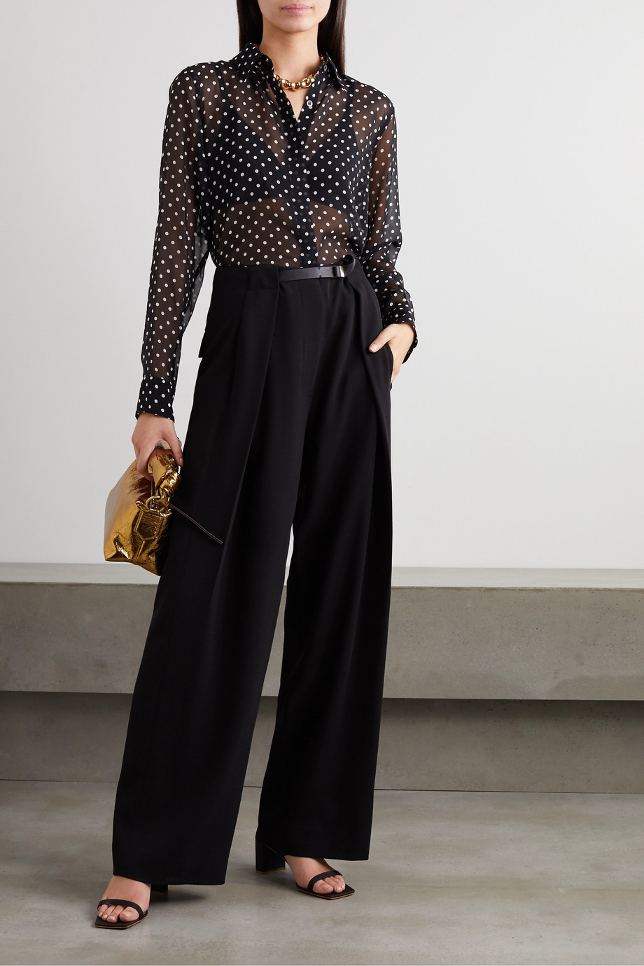 Dries Van Noten Polka-dot silk-chiffon blouse