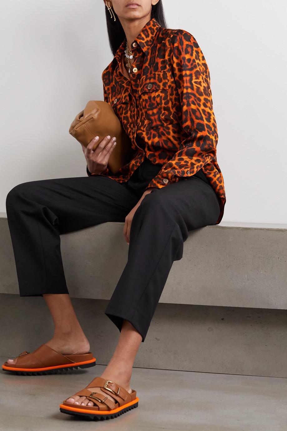 Dries Van Noten Leopard-print satin blouse