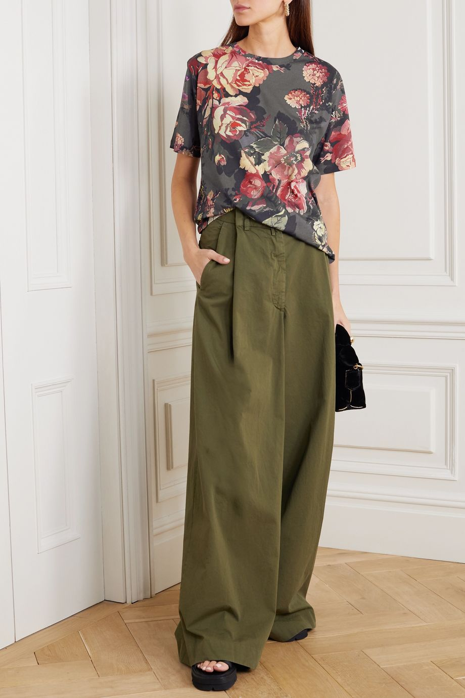 Dries Van Noten Floral-print cotton-jersey T-shirt