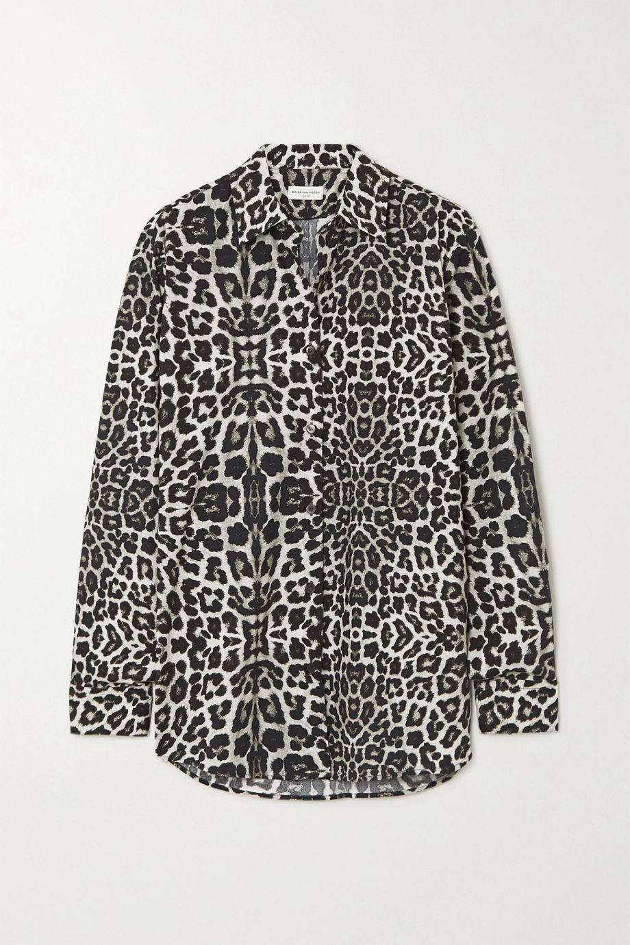 Dries Van Noten Leopard-print cotton-poplin shirt