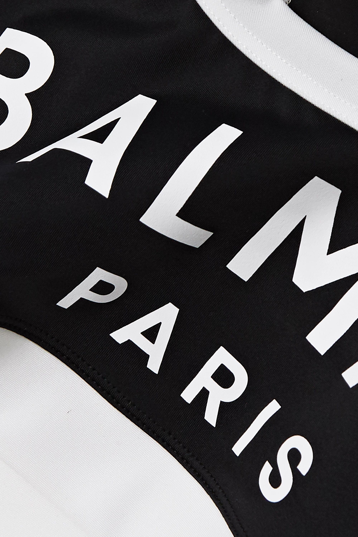 Balmain Sport-BH aus Stretch-Jersey mit Print