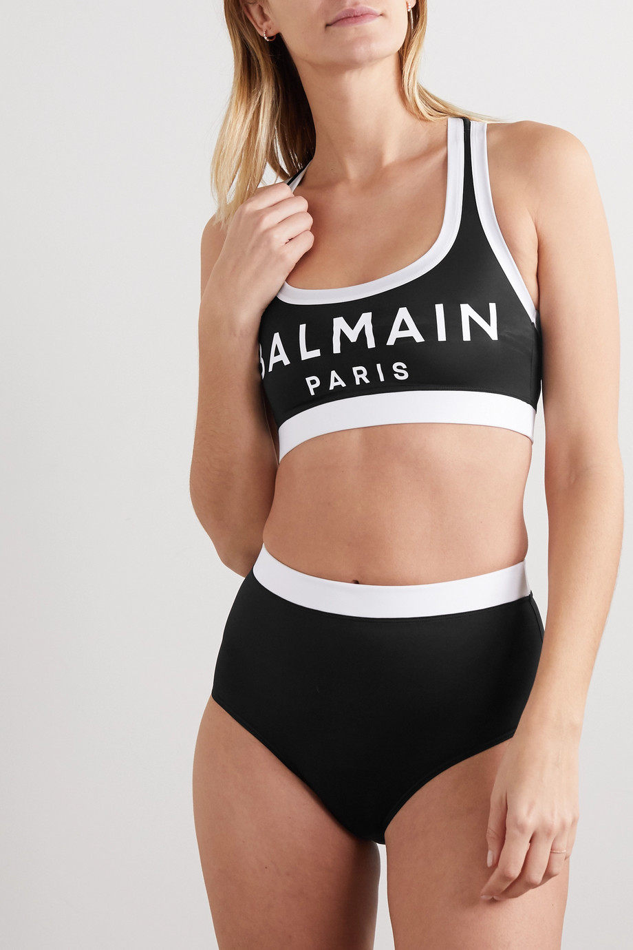 Balmain Printed stretch-jersey briefs
