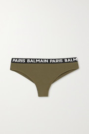 Balmain Jacquard-trimmed cotton-blend jersey briefs
