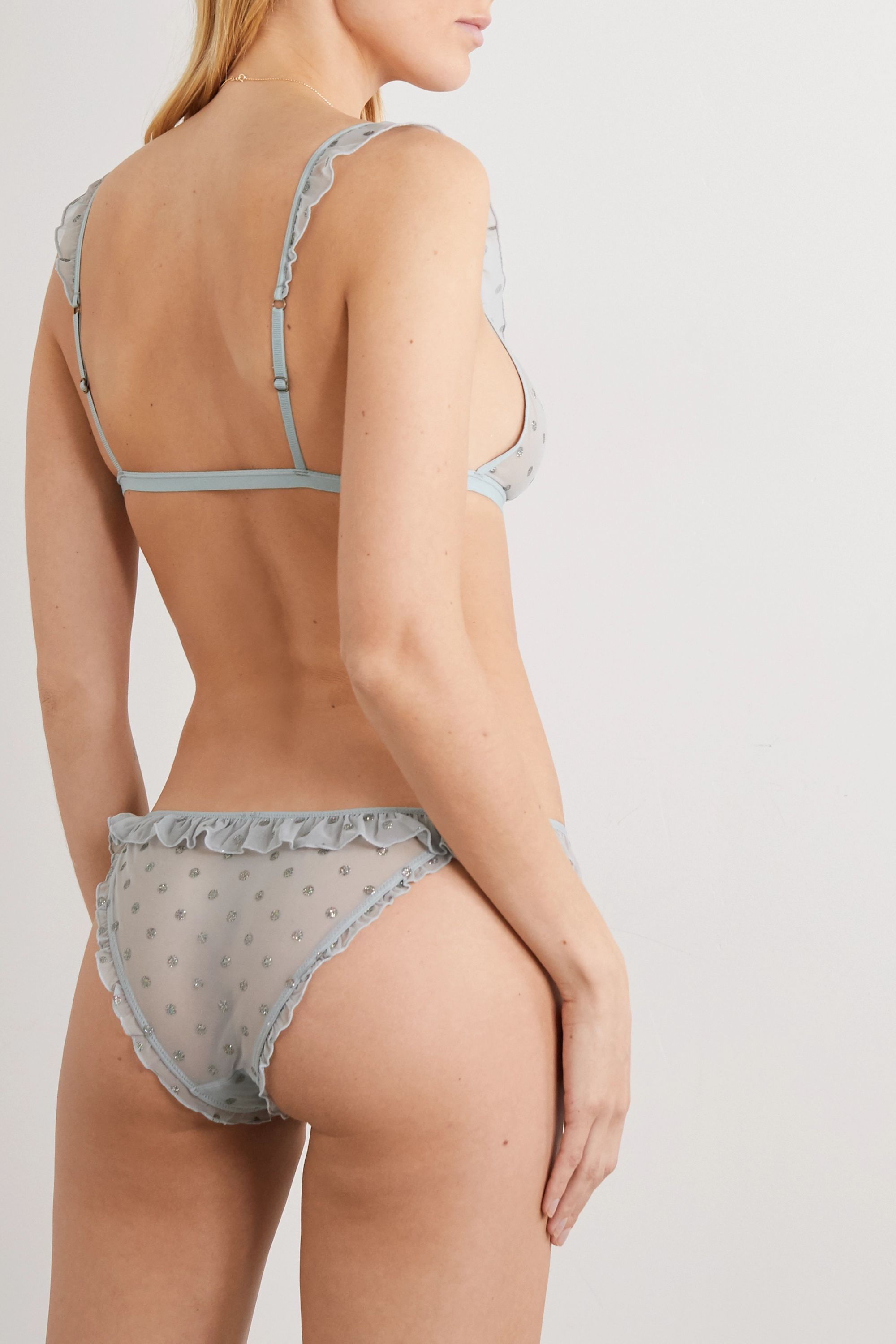 Love Stories Frances ruffled glittered tulle briefs