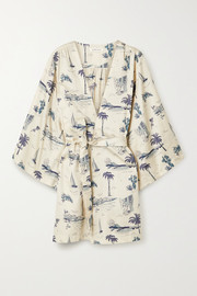 Love Stories Yoko printed cotton-sateen robe
