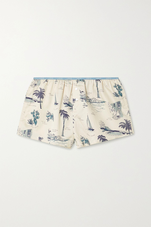 Love Stories Sunday Pyjama-Shorts aus bedrucktem Baumwollsatin