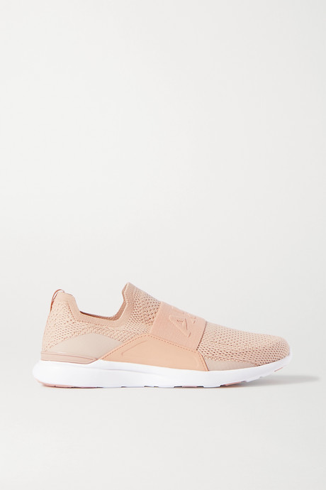 Antique rose TechLoom Bliss mesh and neoprene slip-on sneakers | APL Athletic Propulsion Labs wrUeWD