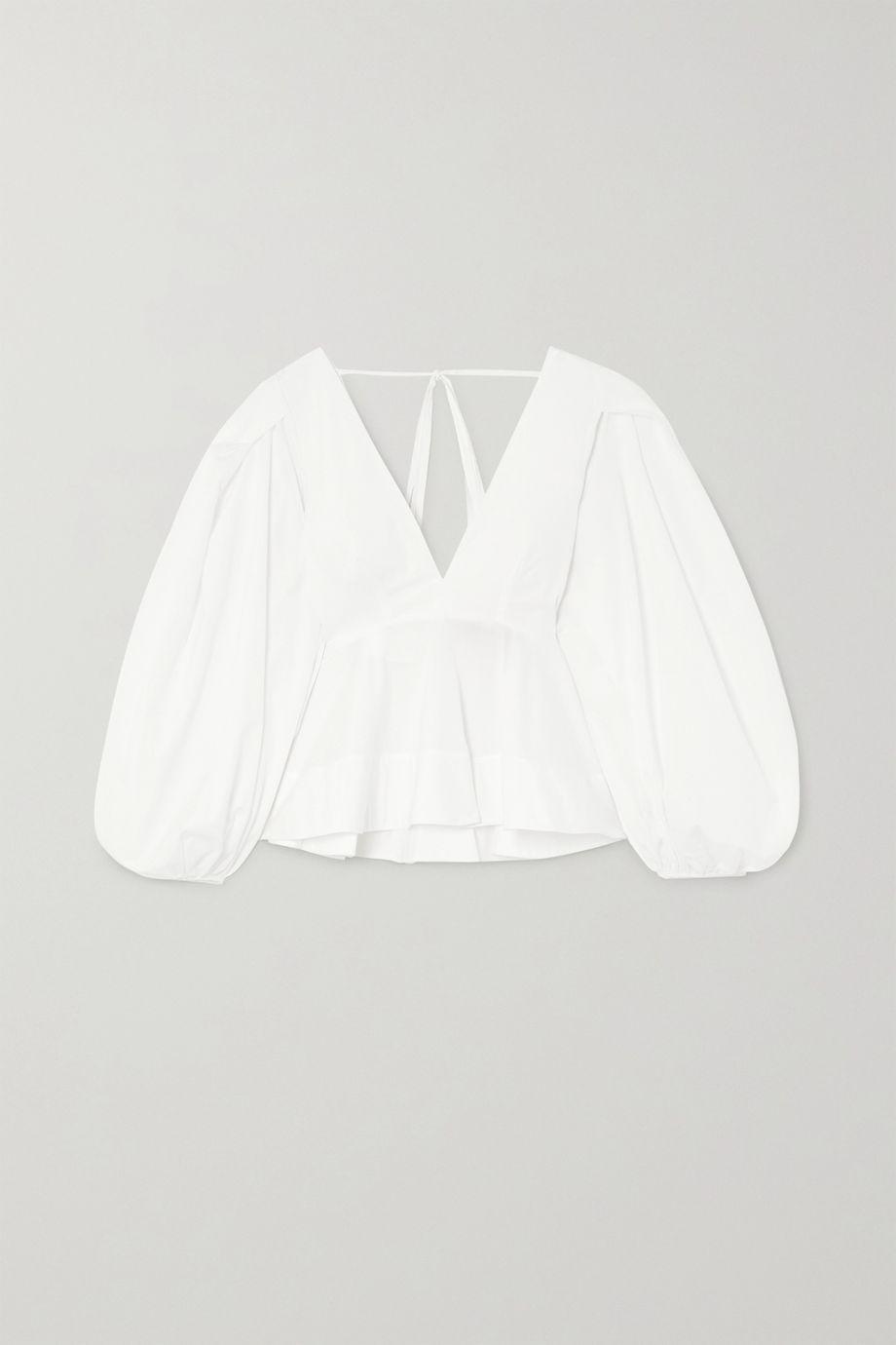 Solace London Carlenne ruffled cotton-poplin blouse