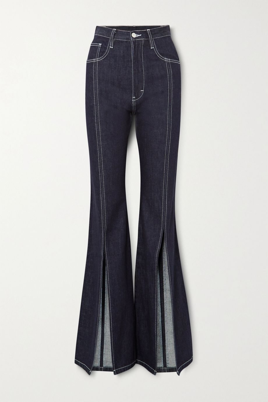 Solace London Evelin high-rise flared jeans