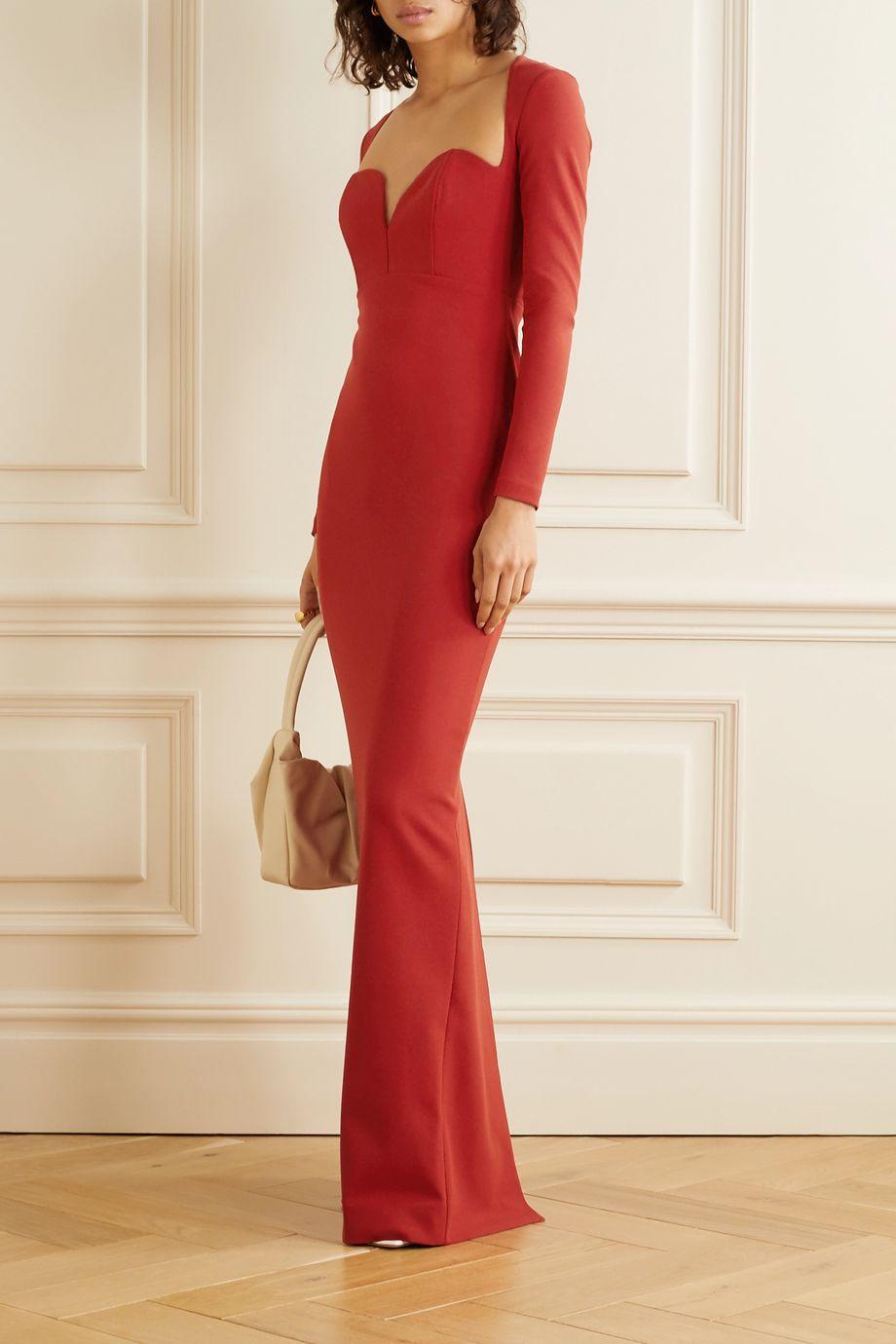 Solace London Marlie stretch-cady maxi dress
